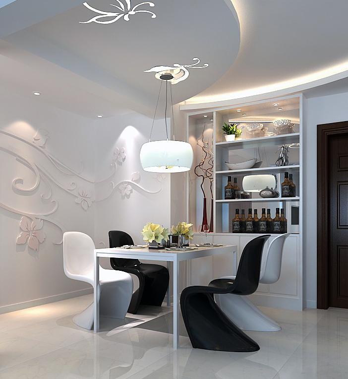 主流80平二居室现代简约装修 堪比样板间值得参考高清图片