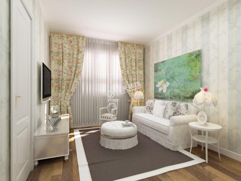 渤海明珠-二居室-92.26平米-客厅装修效果图高清图片