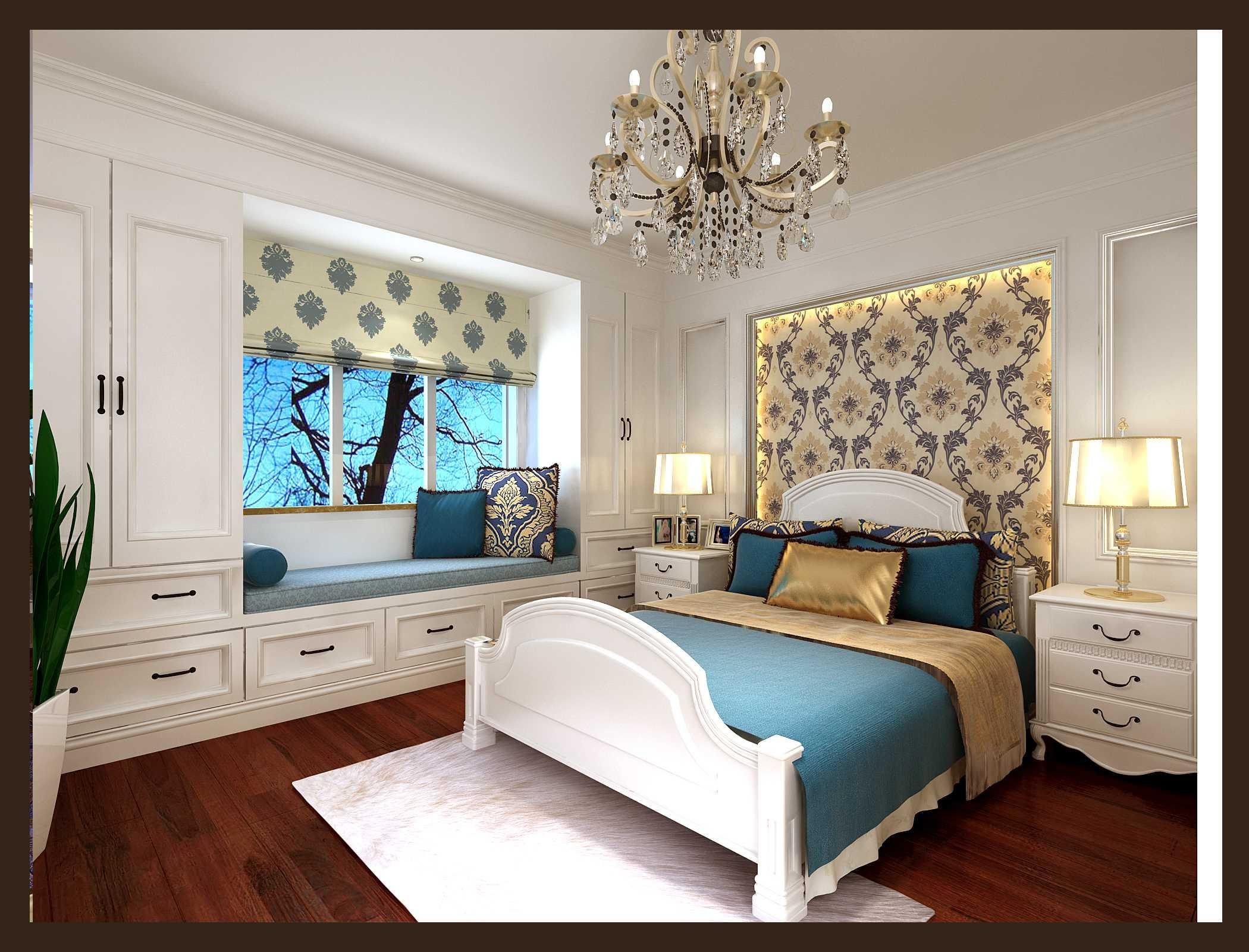 00平米-卧室装修效果图; 希格玛公寓-三居室-150.