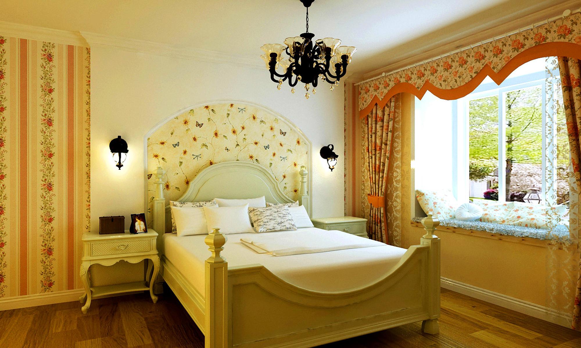 远洋自然-二居室-88.00平米-卧室装修效果图