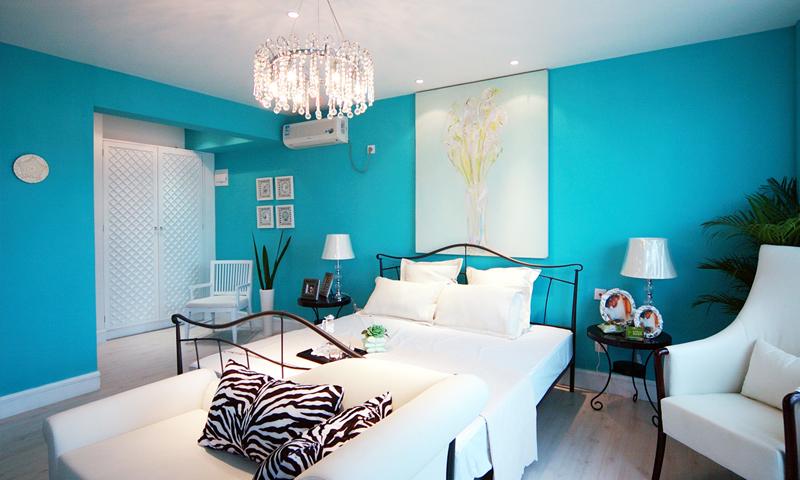两室两厅-卧室装修设计-地中海风格二居室装修效果图87平米5万地中