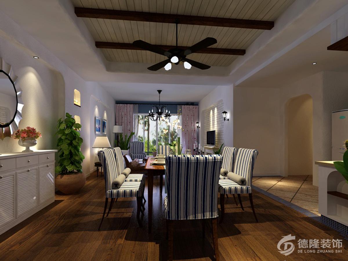 青岛蓝山湾二期荣域-两室两厅-餐厅装修设计