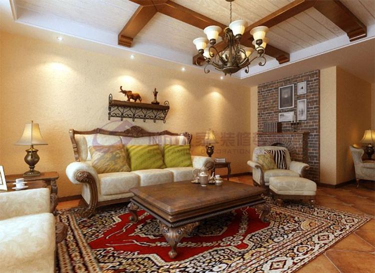 美式乡村二居室90平米2.6万 金融街南开中心装修案例 天津房天下家居装修网