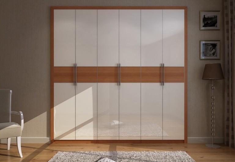 玛格定制家具 铝边双色平开门衣柜