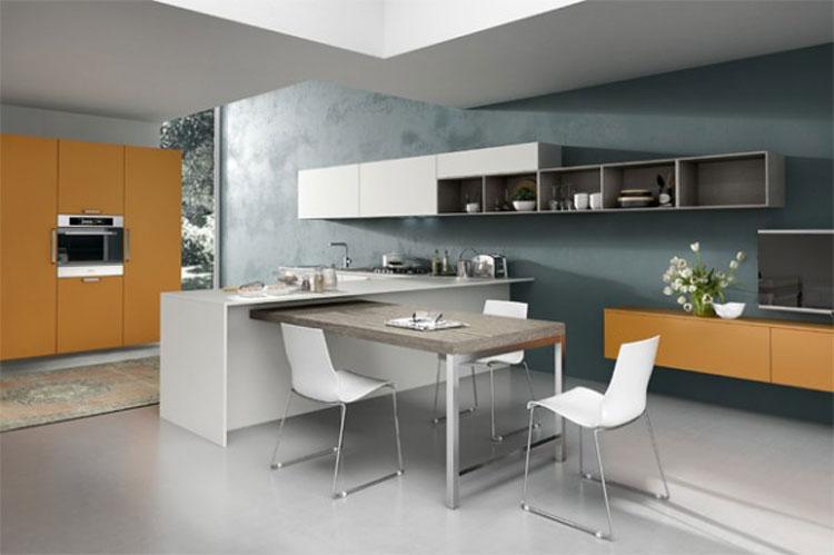 开放式厨房装修效果图:豪华时尚厨房设计案例