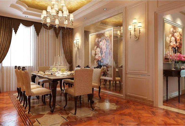 餐桌虽为欧式设计,但避免了欧图片