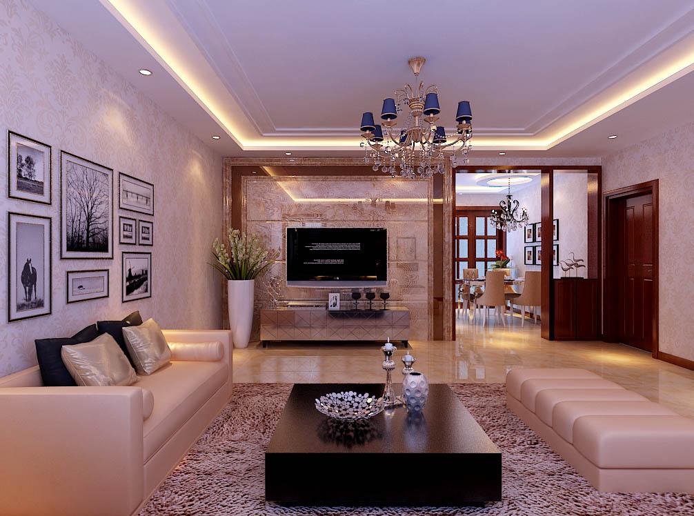【城市人家装饰】客厅设计——电视墙的设计,石材的选用。