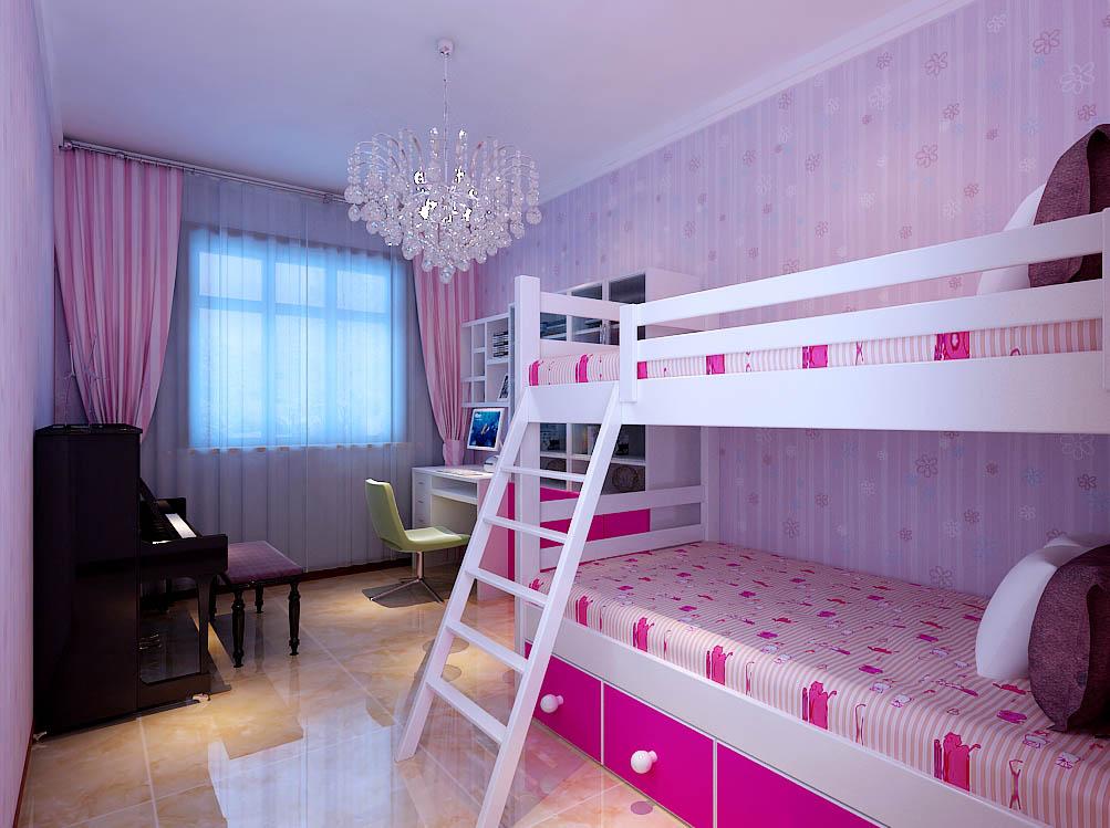 【城市人家装饰】卧室设计——粉粉的公主房,空间利用合理,功能划分明确。