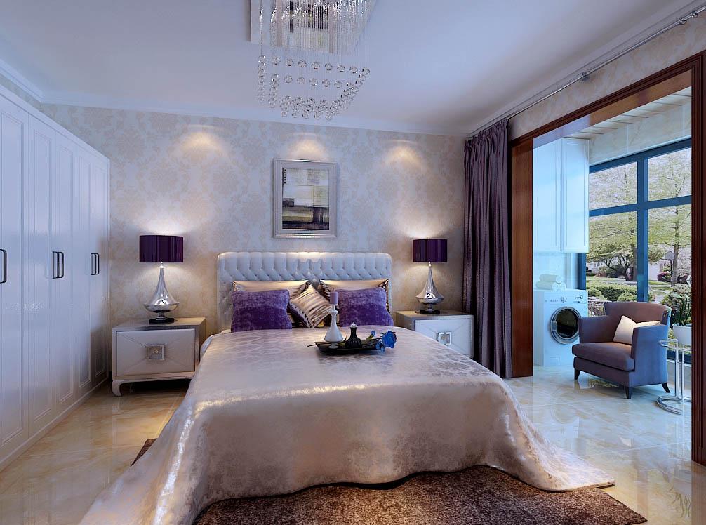 【城市人家装饰】卧室设计——主要是一个休闲的空间,墙面一壁纸的形式是空间温馨,舒适。