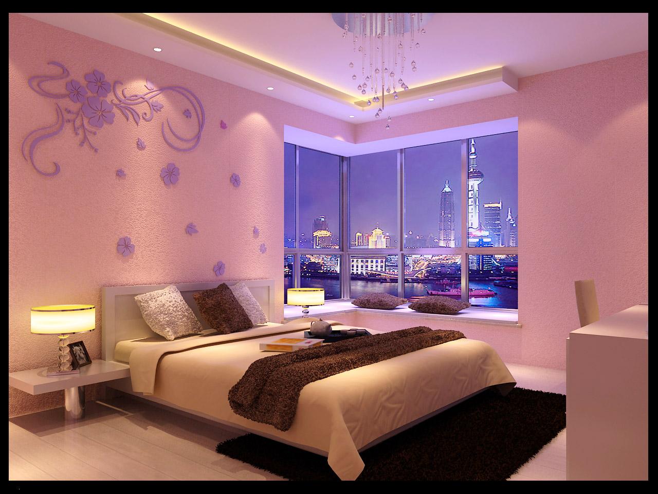 兰舍硅藻泥——现代简约风格卧室背景