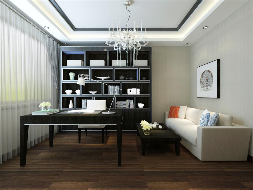 黑白格调的家具和客厅装修风格,使得客厅简单大气又不失档次。再有现代时尚的配饰映衬着客厅,简单而又有层次感,黑白两色凸显品位。