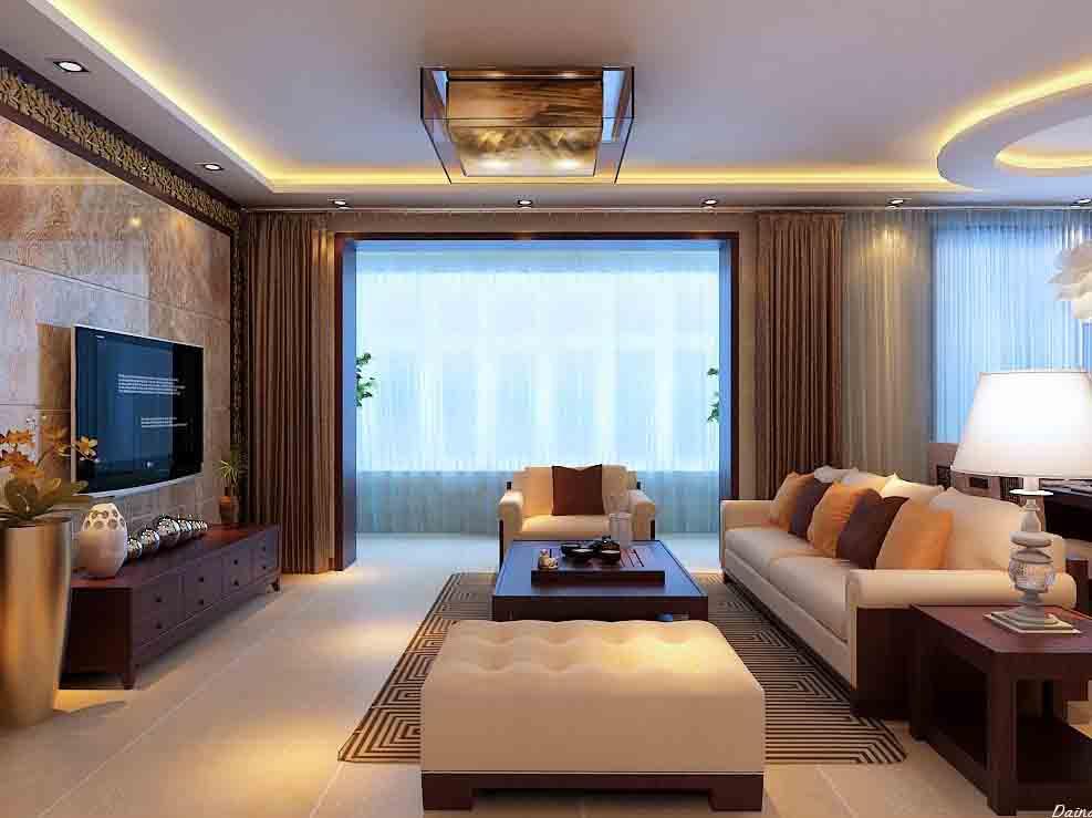 三室两厅新中式风格图片