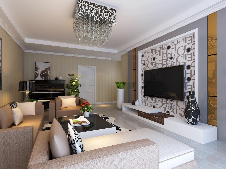 加上色彩卫灰白色调壁纸,使整个空间提升起来,钢琴更使整个空间
