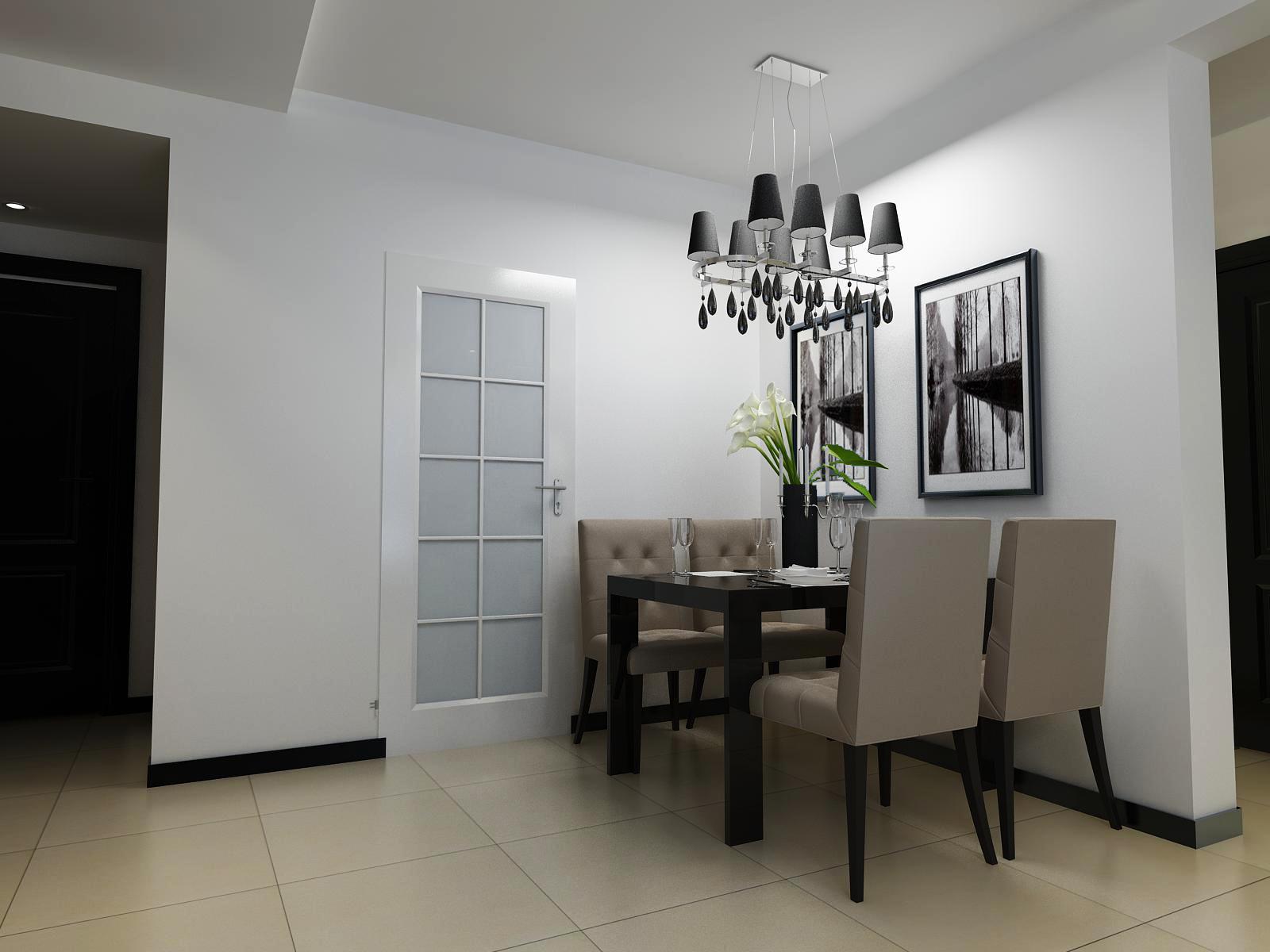 金地檀溪现代简约88平二居室装修设计效果图高清图片