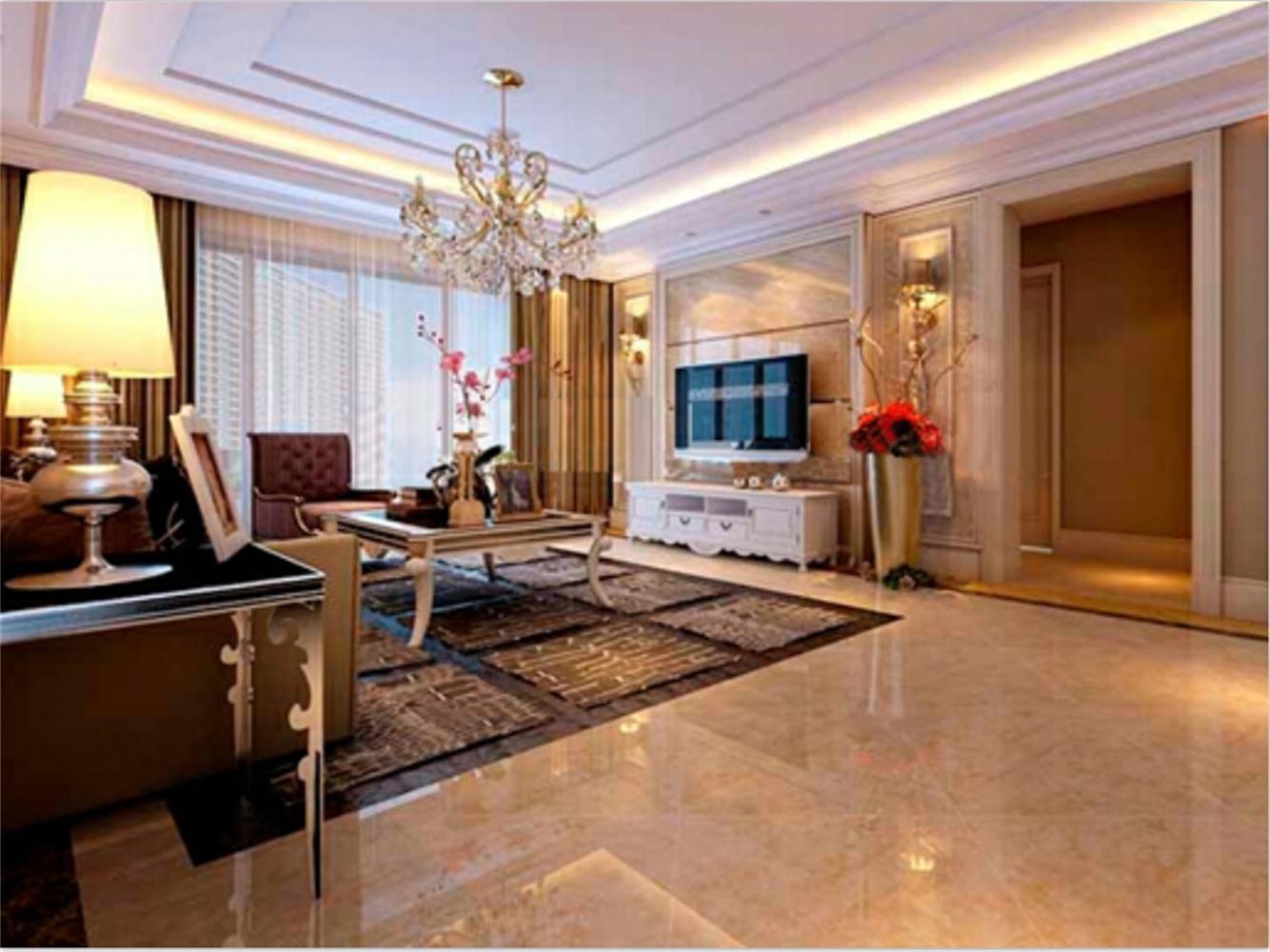家具的选择偏于现代,脱离了欧式的大型与繁琐,衬得空间更加舒适与休闲。布艺的选择形式和色彩都与整体效果和谐统一。同时也象征了女主人的内敛也柔美。