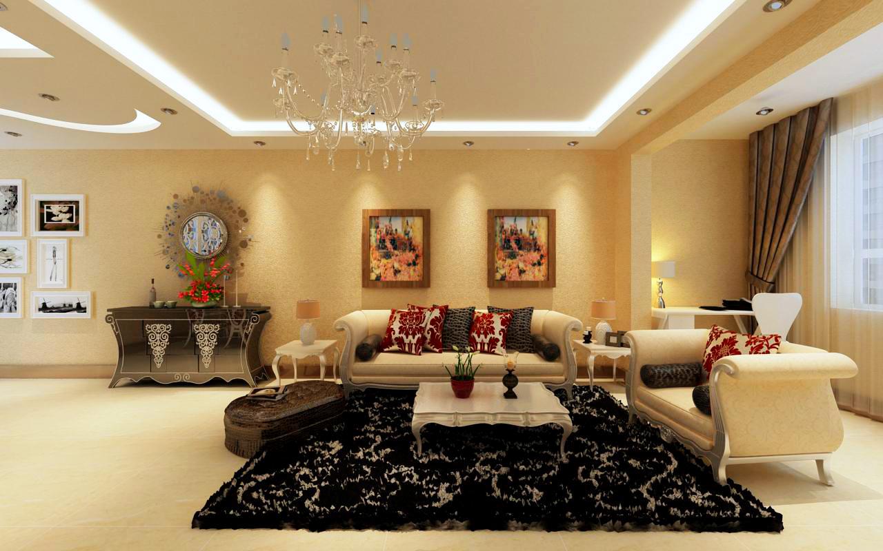 金地檀溪东南亚风格88平二居室装修设计效果图 高清图片