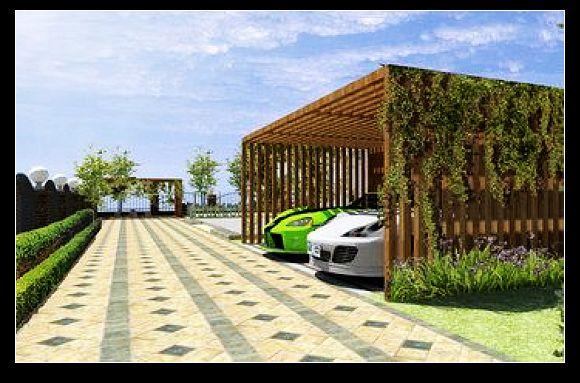 别墅设计的车库效果图-车库设计 车库建筑设计规范 地车库施工组织设高清图片