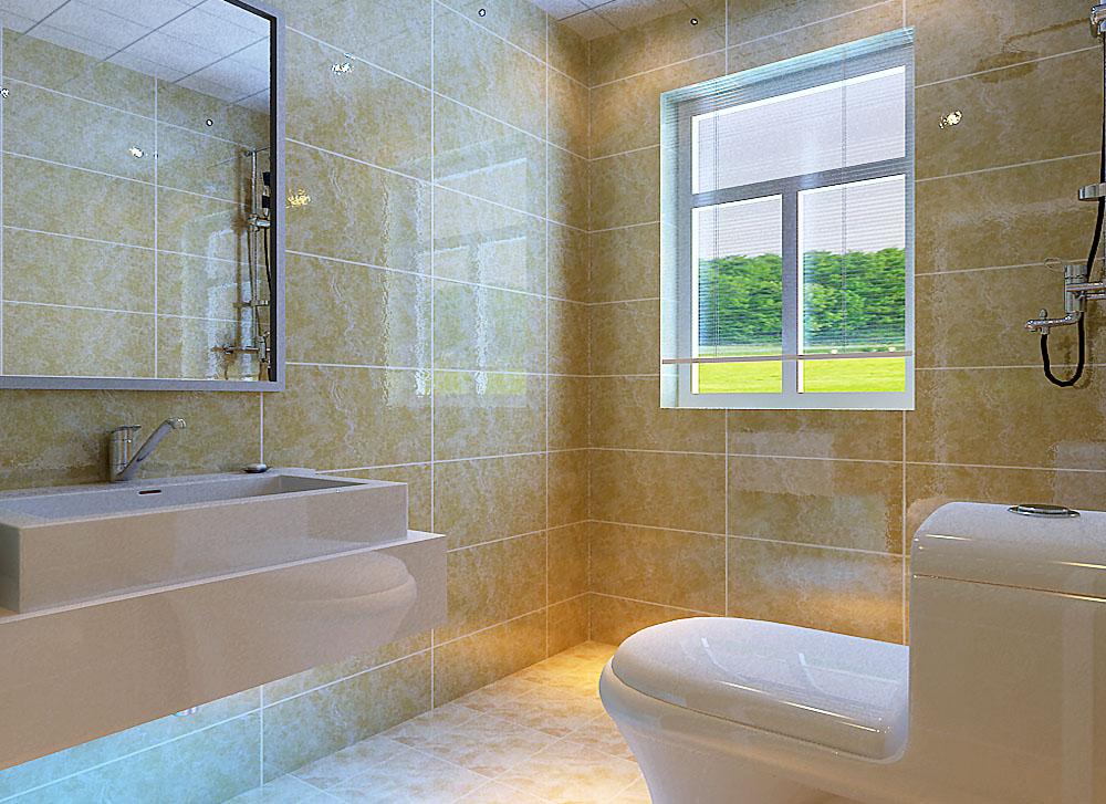 卫生间的设计,简洁干净。墙地砖的选择,雅致,舒适。