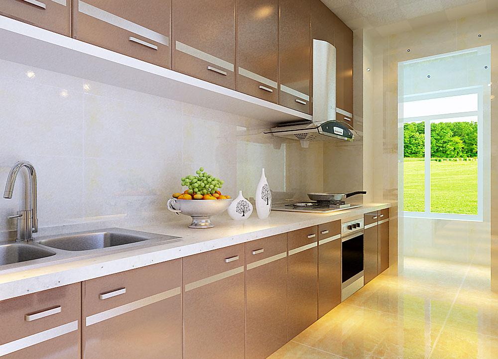 厨房的设计,满足使用功能与实用功能,尽量简洁,因为我们后期生活会有很多储物,设计师需设计一些储物区域。