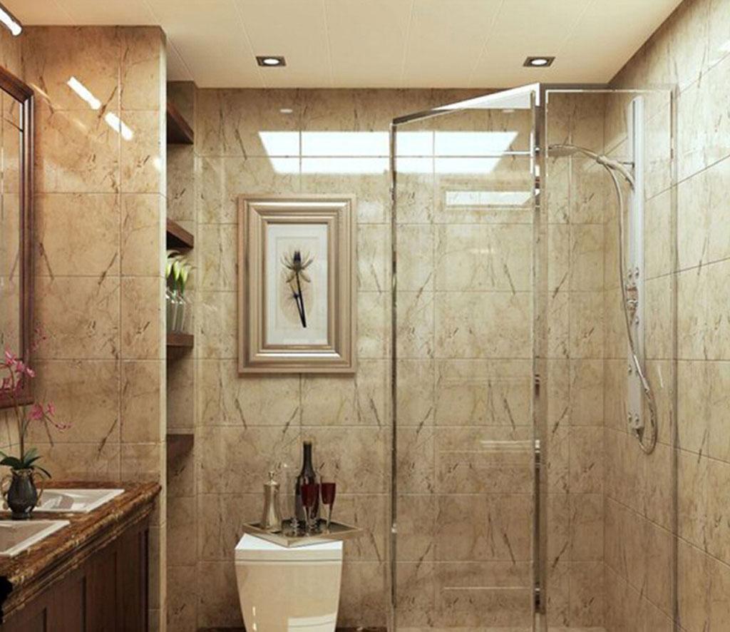 城市玫瑰园-二居室-93.40平米-卫生间装修效果图-城市玫瑰园现代简约高清图片