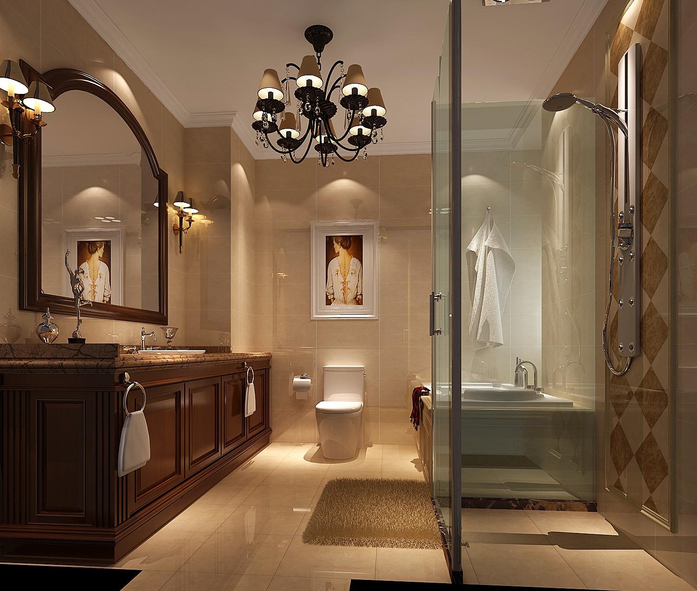 简欧风格三居室卫生间装修效果图