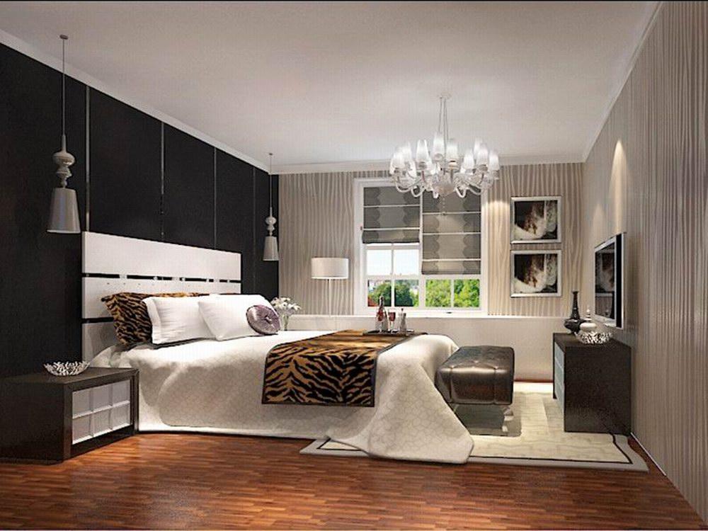 卧室同样延续了客厅为主调的设计风格,简约的背景墙,加上浅暖黄色的窗帘,明亮的空间,卧室变得充满阳光、安静、舒适,可以让人有很好休息、睡眠。