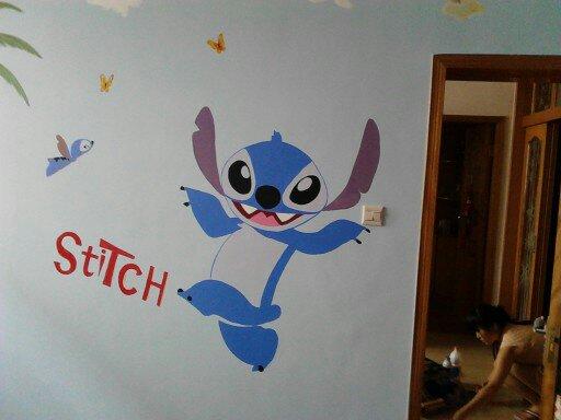 手绘墙画满一千元可以画三面墙绘