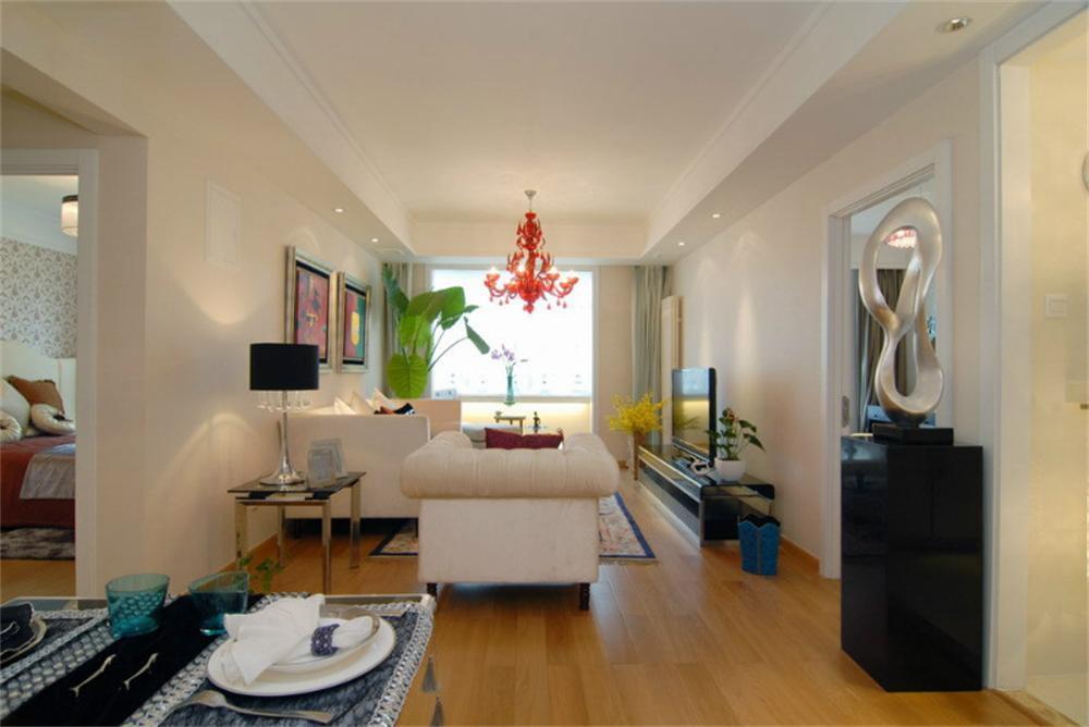 东直门当代MOMA -现代简约-一居室-装修-客厅