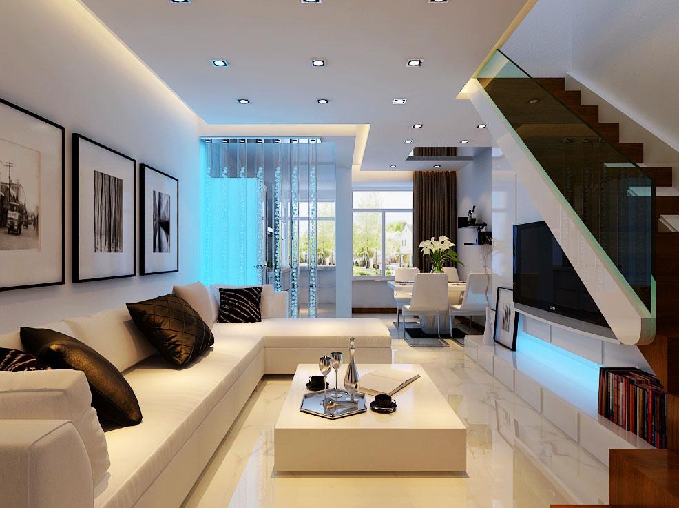 家具颜色的搭配整体用淡色来体现整体的层次效果