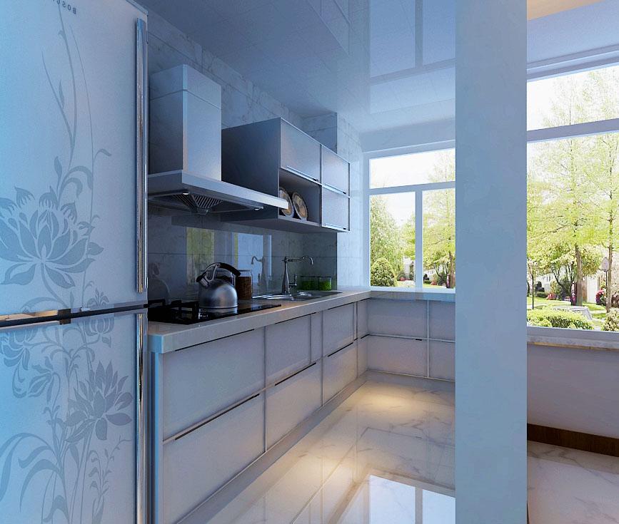 白色的现代橱柜更具观赏性