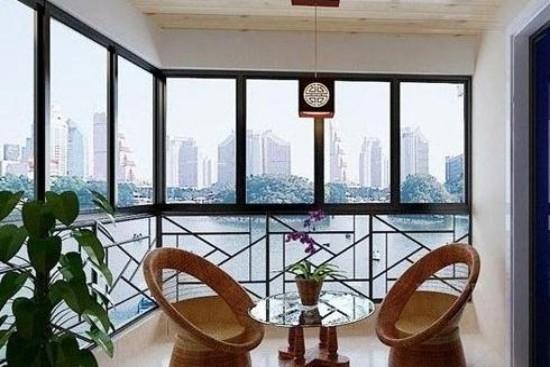 让阳台成为家里抬头的风景线,混搭风格阳台装修设计图片