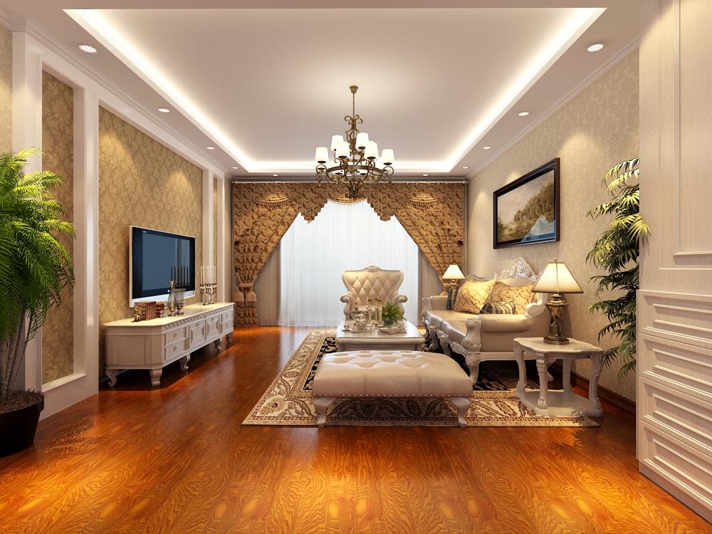 简约欧式风格三居室134平米6万-北京城建徜徉集装修