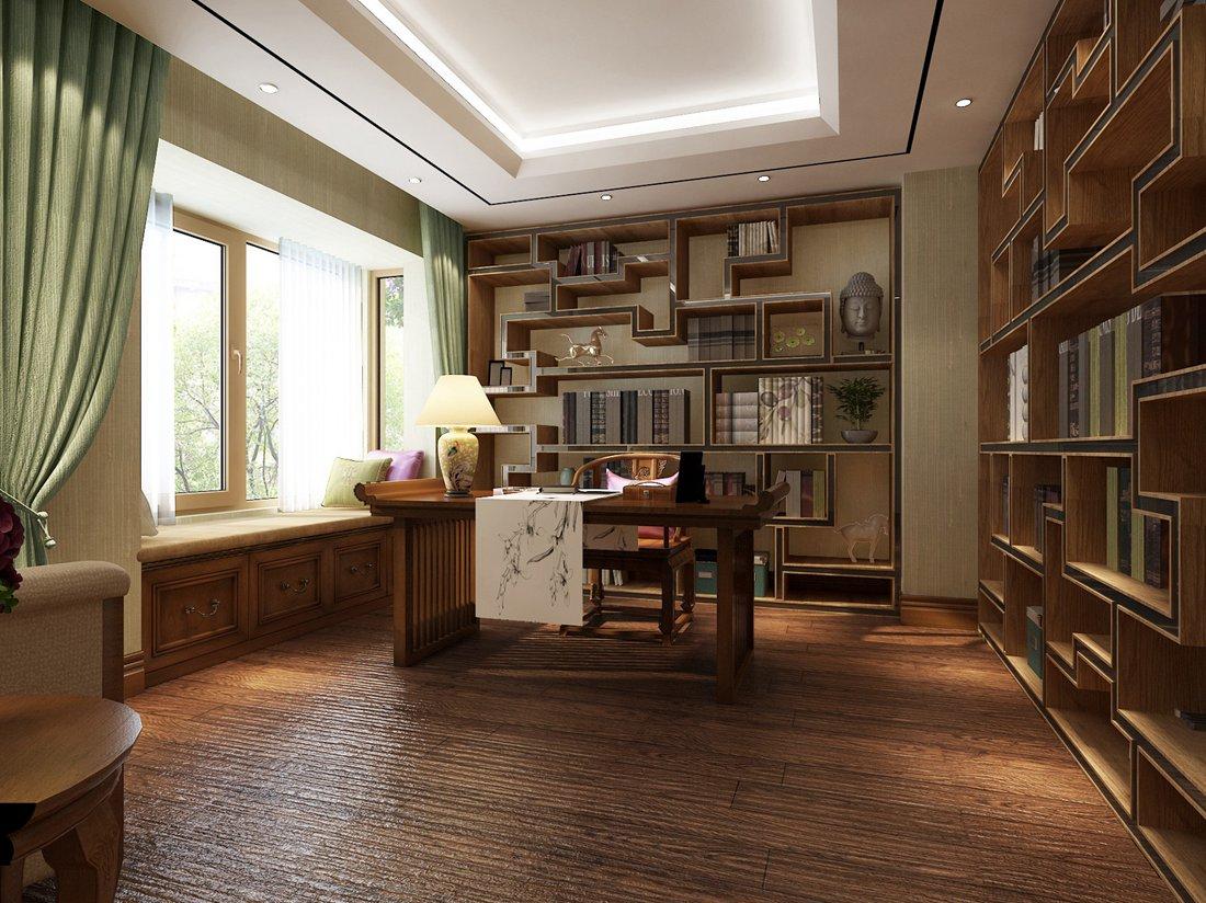 书房-洪纳百川_qq的灵感专辑-搜房室内设计师网图片