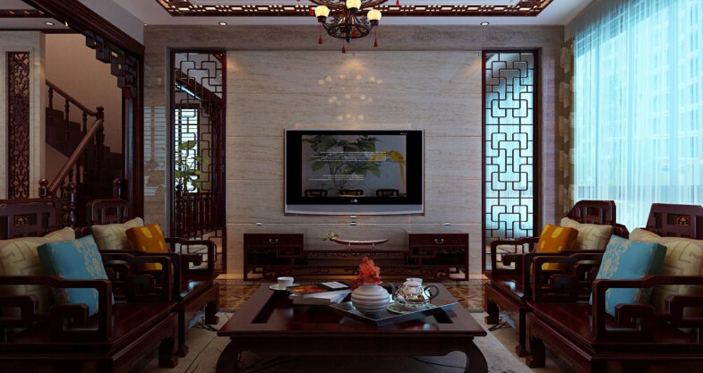 中式之中穿插一些现代元素,作为家中的亮点