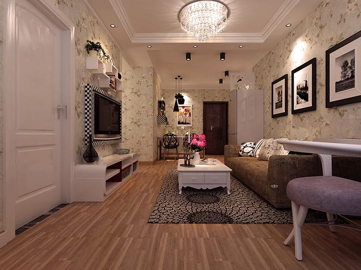 现代简约二居室80.6平米5.5万_升龙玺园装修案例-北京