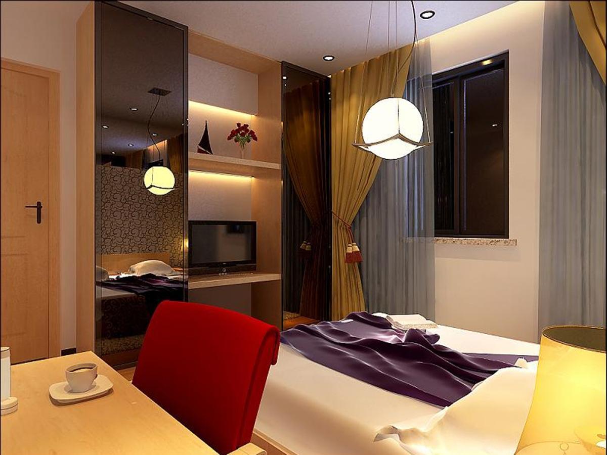 望京西园四区-一居室-51.50平米-卧室装修效果图高清图片
