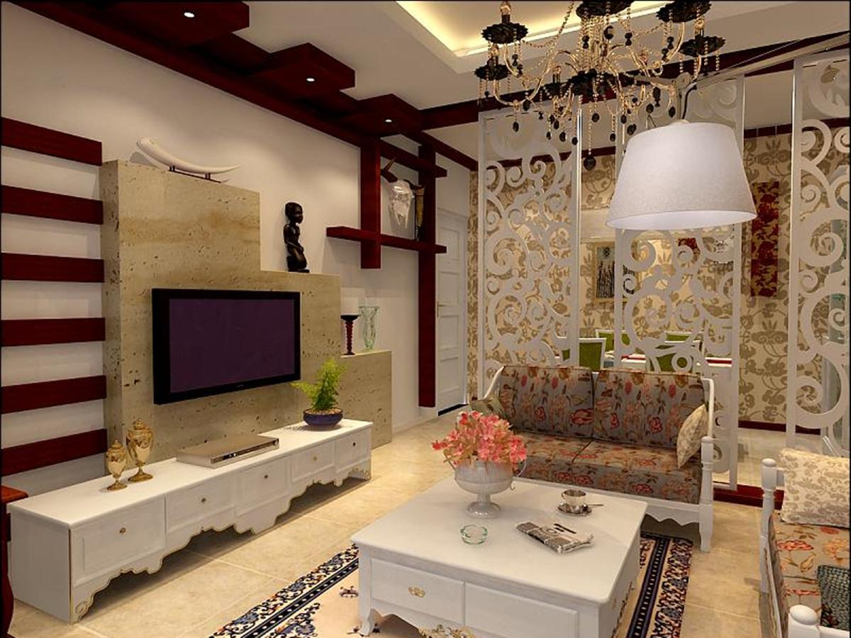 50平米-客厅装修效果图