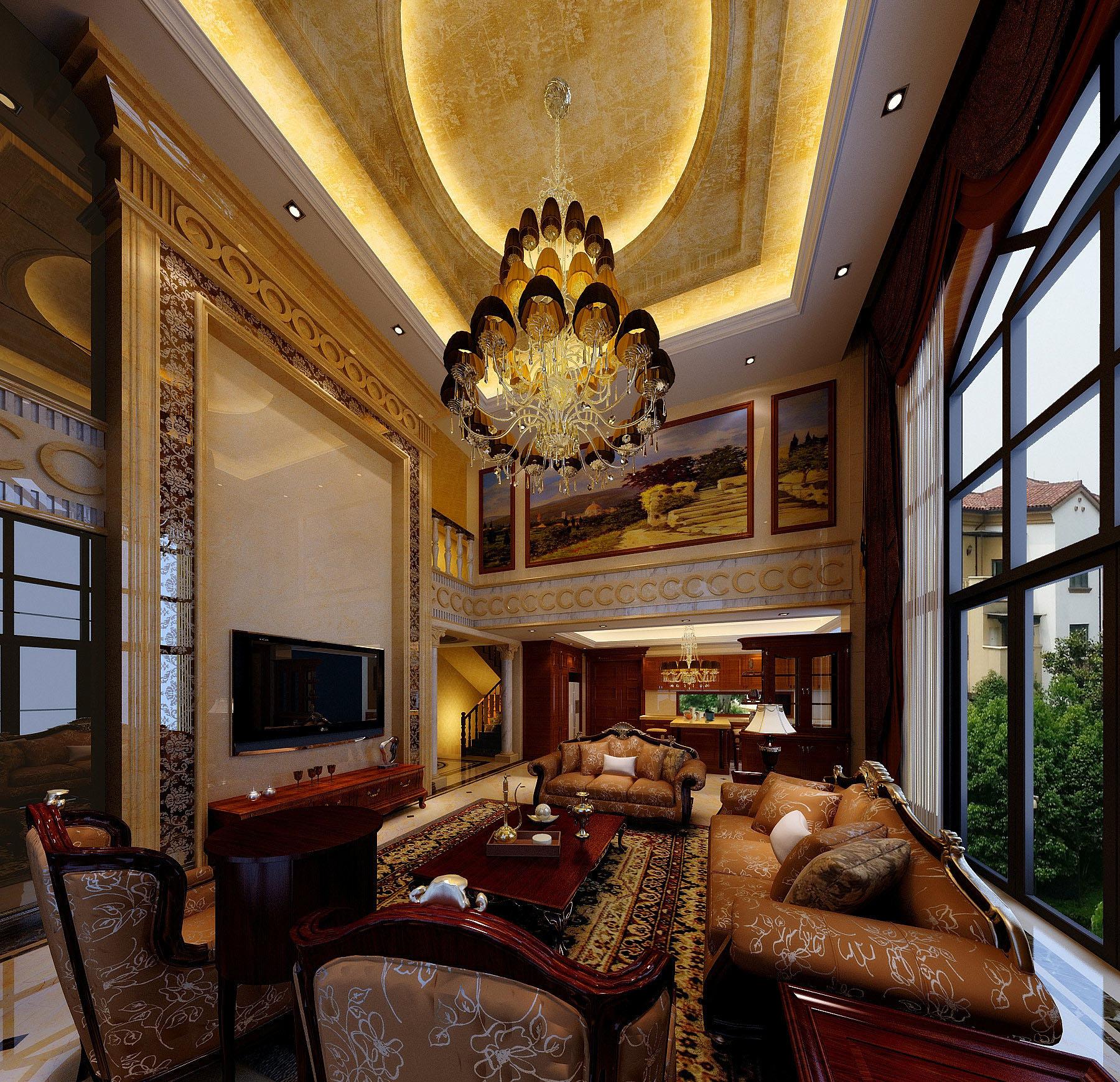 欧式风格设计装修—别墅图片