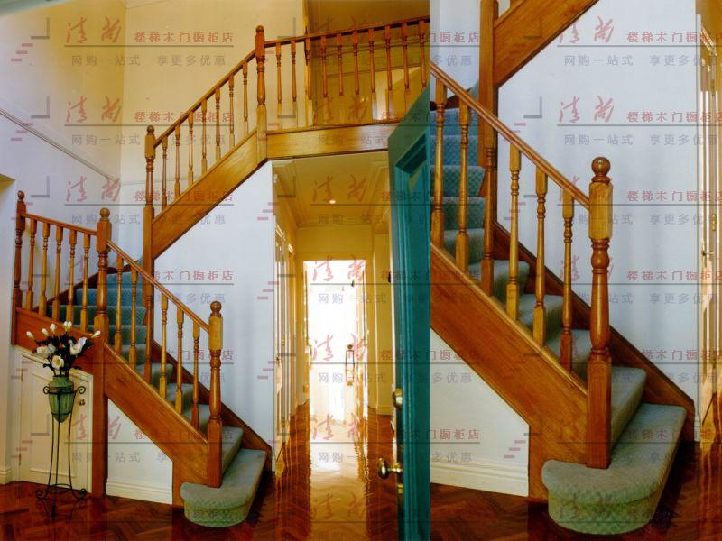 【清尚】清尚实木楼梯简欧风格北京楼梯国庆特价报价图片