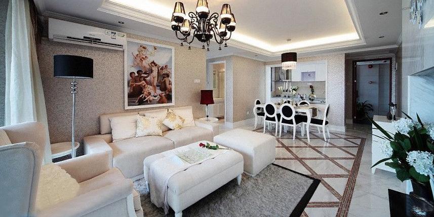 115平米三室两厅装修效果图