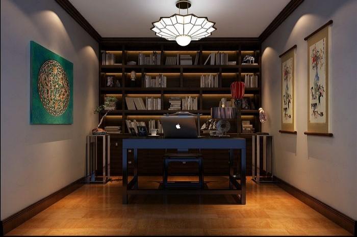 4套88平三居装修效果图 7万半包简约中式欧式大比拼高清图片