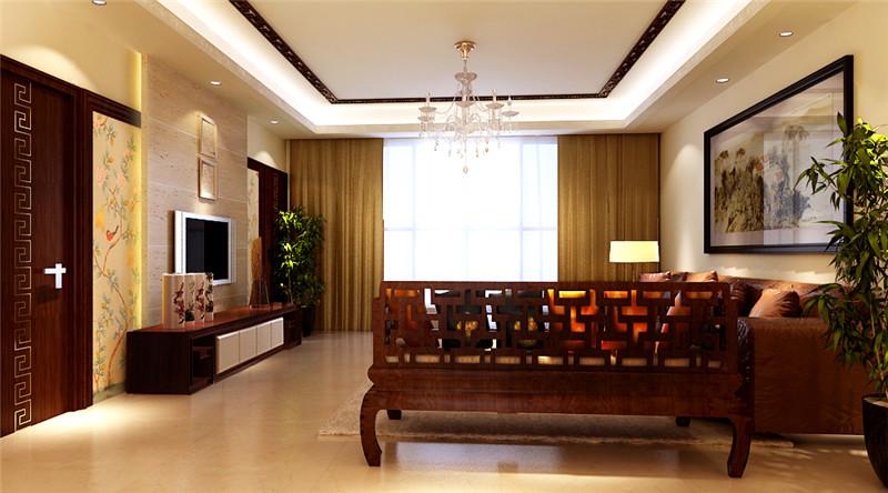 """中国传统居室非常讲究空间的层次感。这种传统的审美观念在""""新中式""""装饰风格中,又得到了全新的阐释:依据住宅使用人数和私密程度的不同,需要做出分隔的功能性空间,则采用""""垭口""""或简约化的""""博古架"""" 来区分;在需要隔绝视线的地方,则使用中式的屏风或窗棂,通过这种新的分隔方式,单元式住宅就展现出中式家居的层次之美。"""