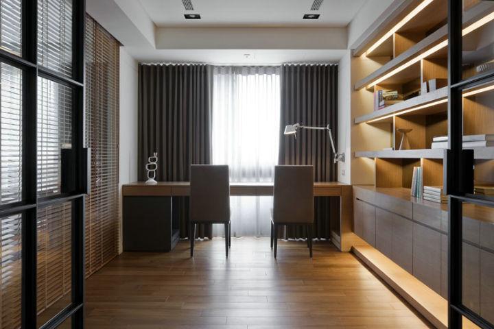 金地格林格林-三居室-88.70平米-书房装修效果图-4套88平三居装修效高清图片