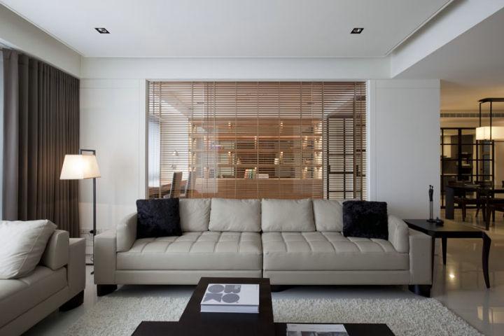 金地格林格林-三居室-88.70平米-客厅装修效果图-4套88平三居装修效高清图片