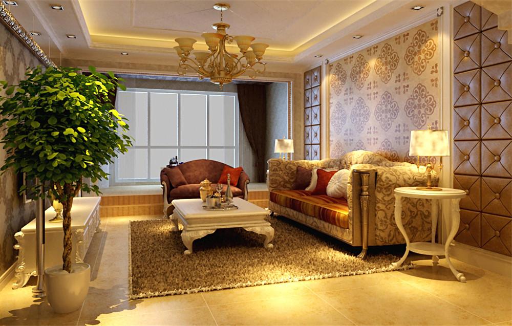 客厅大气、简约、沉稳为主基调,玻璃的装饰增强了空间感,是空间更加通气派,体现了主人的内蕴品性。