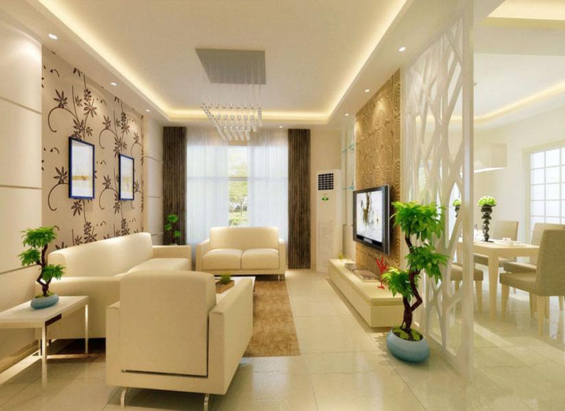 海淀温泉小区-一居室-60.00平米-客厅装修效果图