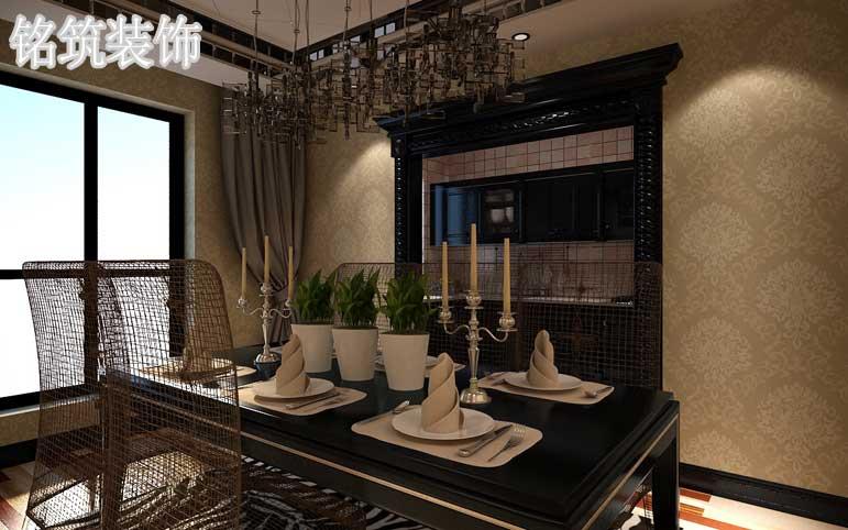 餐厅背景墙的深浅搭配颇具前瞻性、不拘一格张显高贵与华丽