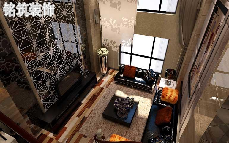 后现代风格家具以时尚、奢华、唯美为主打,家具与背景墙使用深色个性浪潮中放射出非比寻常的熠熠光彩