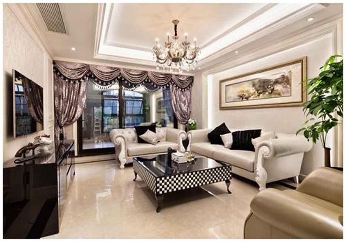 新古典风格三居室装修效果图153平米9万新古典风格三图片
