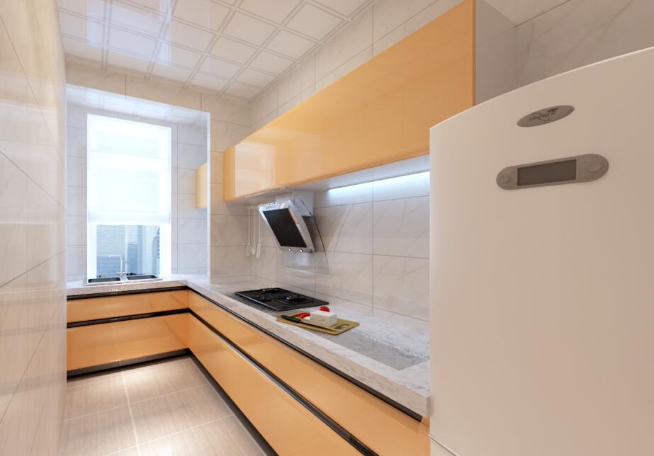 88.00平米-厨房装修效果图-四套客厅 餐厅的完美案例 适合小户型的高清图片